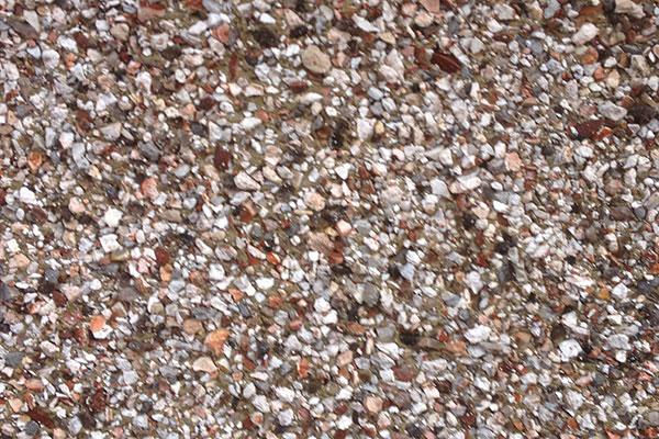 Pebble dashing walls