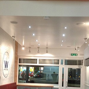 Plastering A False Ceiling In A Camden Shop