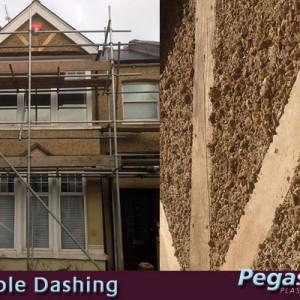 Exterior Rendering & Pebble Dashing in Muswell Hill