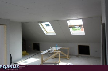 Dry Lining And Plastering A Loft Conversion