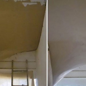 Plastering a Staircase Winder in Finchley