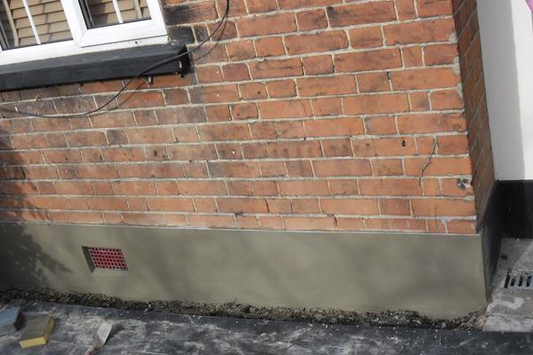 Wall plinth repairs