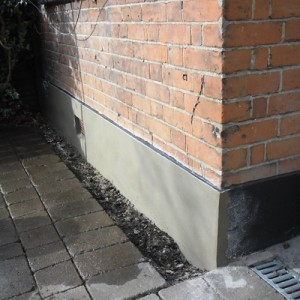 Exterior Plastering - Rendering A Plinth