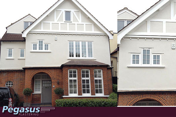 Exterior wall rendering north london pegasus plasterers - Painting exterior walls rendered ...