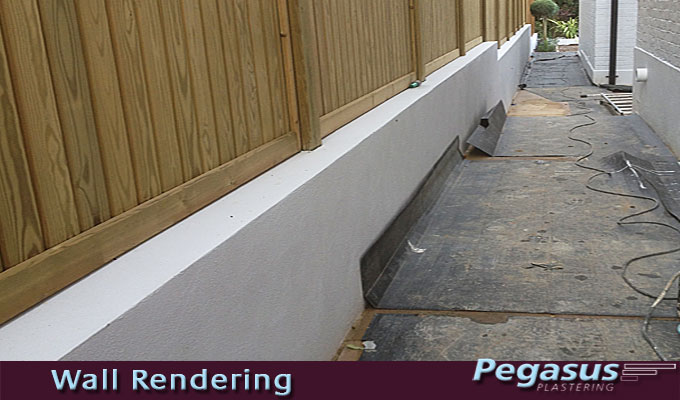 Exterior wall rendering in North London