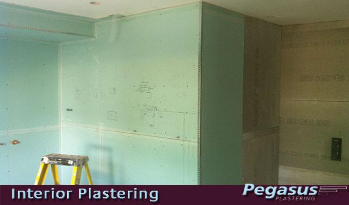 Plasterboard and stud work