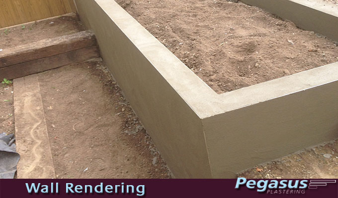 Exterior wall covering - render