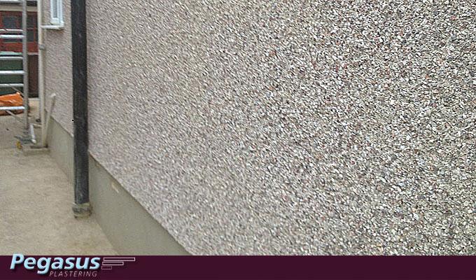 Front Elevation Granite : Pebble dashing walls finchley north london pegasus