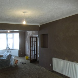 Plastering a Through-lounge in Barnet