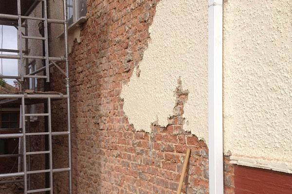 Exterior wall repairs