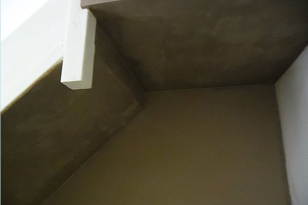 Plastering a stairwell