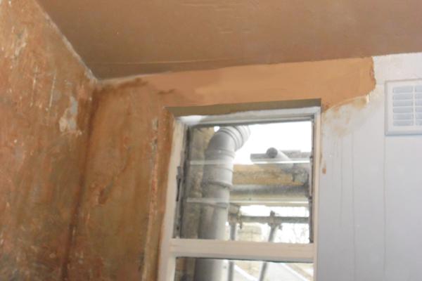 Interior wall plastering